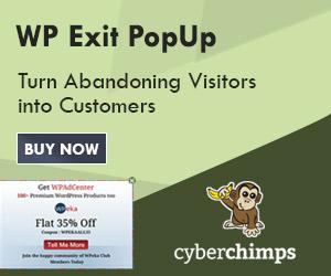 WP Exit PopUp Plugin 300X250