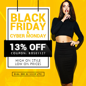 "Rosewholesale Black Friday & Cyber Monday Sale: 13% OFF Sitewide with Code ""ROSE1127"". (Ends: Dec.2, 2015)"