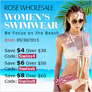 Sexy Women's Swimwear: Save Up to $8 at Rosewholesale! (Ends: 05/30/2015)
