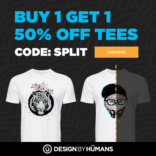 All tees and tanks are buy 1 get 1 50% off with coupon code: SPLIT.