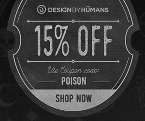 Save 15% off sitewide with coupon code: POISON.