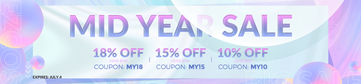 Mid Year Sale, Up to 18% off for Ezcosplay