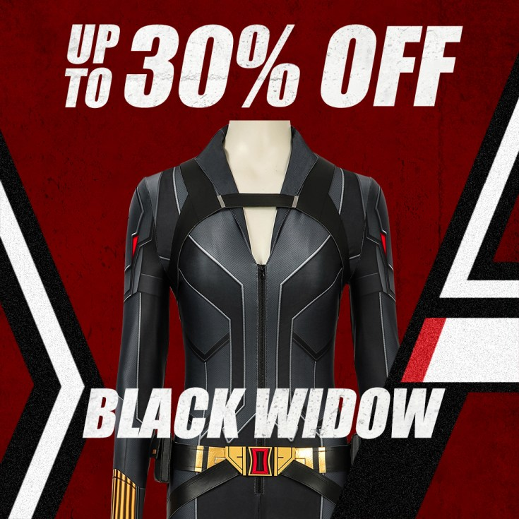 Up to 30% off for Black Widow