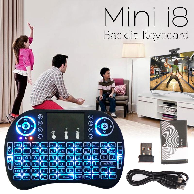 Mini i8 Gaming Keyboard Wireless Backlit Touchpad Air Mouse for PC/Ipad/TV Box
