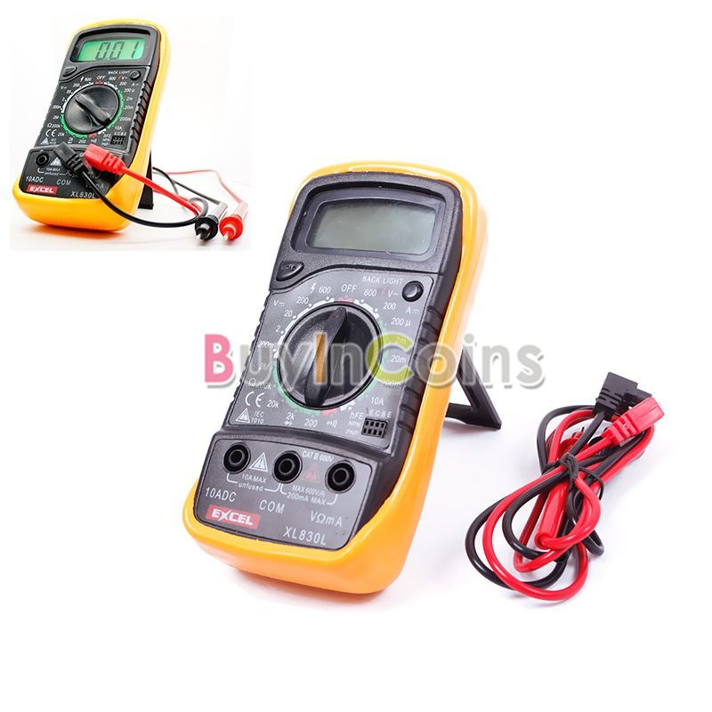 New Digital Multimeter Volt Meter Ammeter Ohmmeter OHM Tester XL-830L 06