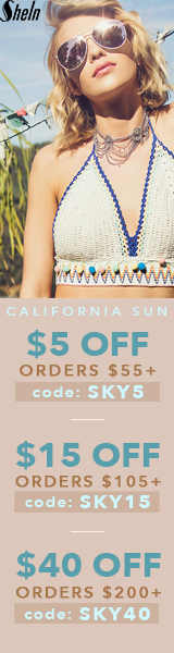 Enjoy $40 off orders $200+ with coupon code SKY40 at SheIn.com! Ends 4/3
