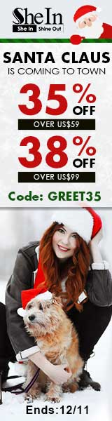 Santa Claus is coming to town! Save up to 38% off at SheIn.com! Ends 12/11