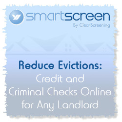 Reduce Evictions: Credit and Criminal Checks Online for Any Landlord