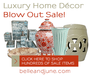 Luxury Home Decor Blow Out Sale. Up to 60% Off decor and gifts. Shop www.belleandjune.com