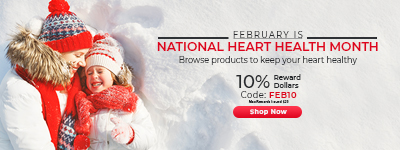 National Heart Health Month | 10% RD | Code: FEB10