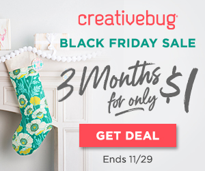 Creativebug Black Friday sale