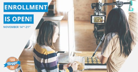 Food Blogger Pro Enrollment