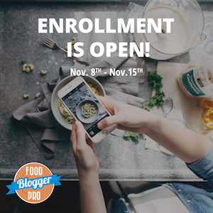 Food Blogger Pro Enrollment