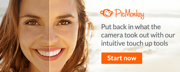Put back in what the camera took out with PicMonkey's intuitive touch up tools