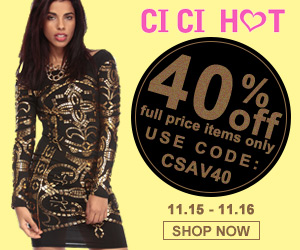 40% off, full price items only at CiCiHot.com. Use Coupon Code: CSAV40. Expires: 11/16/2014.