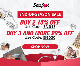 End of Season Sale!  Buy 3 or more and Save 20% with Code END20.  Offer Ends 10/10 at Soufeel.com