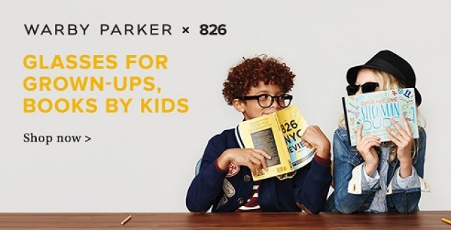 Warby Parker x 826 - Glasses for Grown-ups, Books by Kids