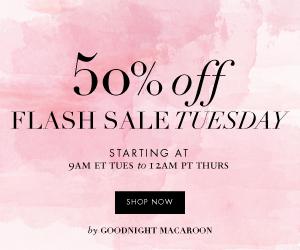 Flash Sale Tuesday Take 50% Off