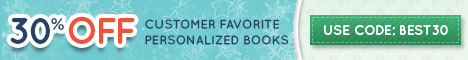 468x60; 12/2 30% Off Bestselling Personalized Books