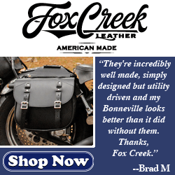 Fox Creek Leather Motorcycle Saddlebags