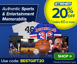 20% Off at SteinerSports.com: code SUMMER-OT-50