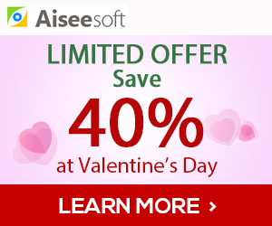 Aiseesoft Valentine's Day 40% Off