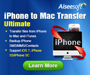 Transfer iPhone files to Mac/iTunes, backup iPhone SMS/MMS/Contacts