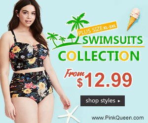 Plus Size Swimwear from XL-5XL at PinkQueen.com