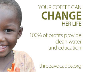 100% of profits provide clean water and education - Three Avocados