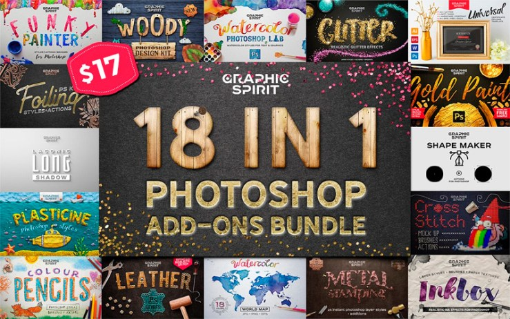 18-In-1 Photoshop Addons Bundle