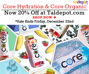 Core Sale. 20% OFF for Any Core Organics and Core Hydrating Water