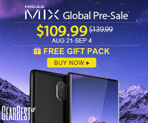 Discount of $109.99 for Leagoo Mix @GearBest from Aug.21- Sep.4