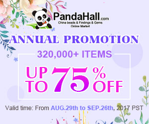 Annual Promotion.Up to 75% OFF on Beads and Findings.Ends on Sep.26th, 2017 PST
