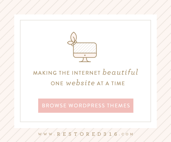 Restored 316 Feminine Wordpress Theme Design using the Genesis Framework