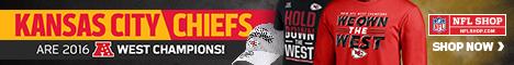 Get your Chiefs 2016 AFC West Champs Gear at NFLShop.com