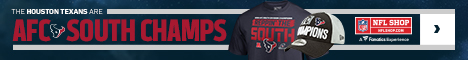 Houston Texans 2018 AFC South Champs Gear