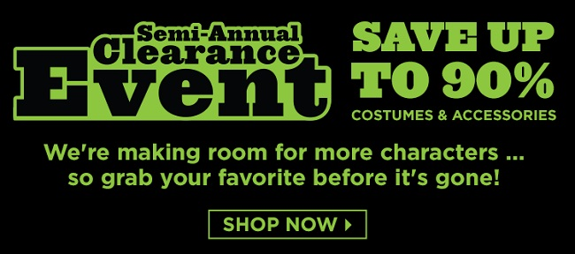 BuyCostumes Semi-Annual Clearance Sale