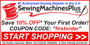 10% Off Your First Order at SewingMachinesPlus.com