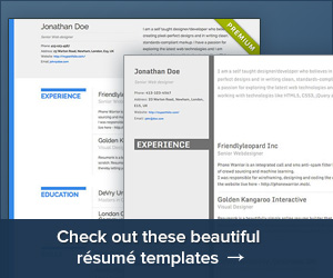 Check out these beautiful resume templates