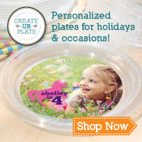 One plate, many designs! Change up your table with Plate-Ables - reusable decals from Create UR Plate!