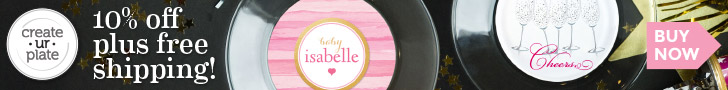 One plate, many designs! Change up your table with M8's - reusable decals from Create UR Plate!