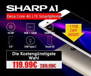 SHARP A1 Deca Core 4G LTE Smartphone