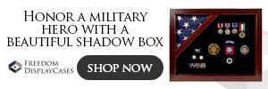 Military shadow box - flag display case - Freedom Display Cases