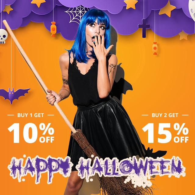 Hallowen Sale!BUY 1 GET 10%OFF, BUY 2 GET 15% OFF