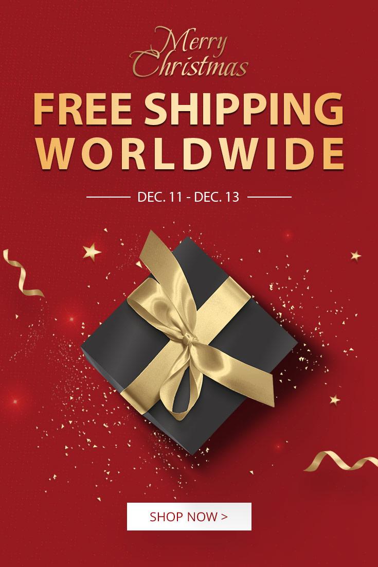 Enjoy Zaful Free Shipping Worldwide between 12.11-12.13! The Big Christmas Sale begins!