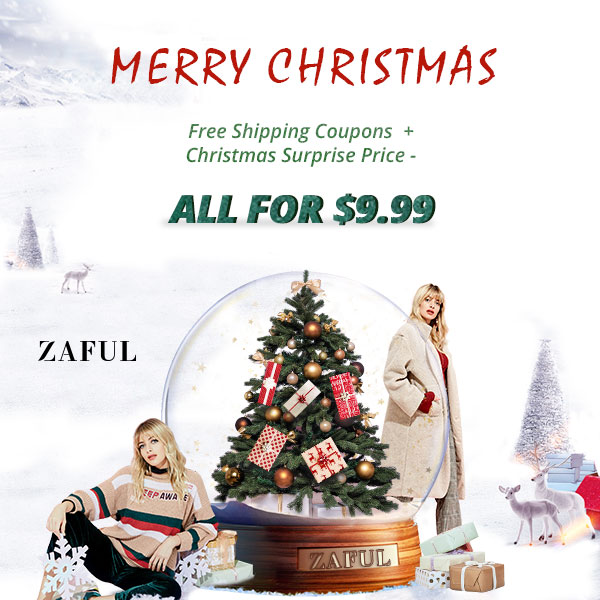 ZAFUL Christmas Sale! Free Shipping Coupons + Christmas Surprise Price!