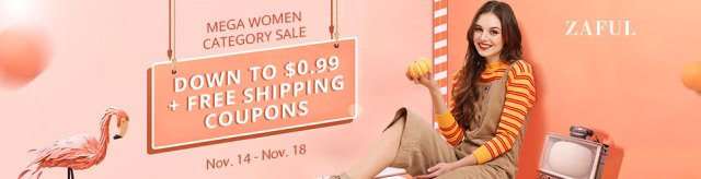 Mega Women Category Sale: Down to $0.99 + Free Shipping Coupons