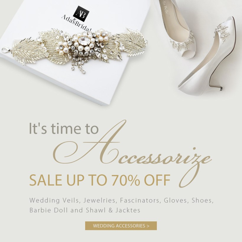 Save 70% OFF for Wedding Accessories