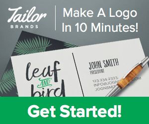Tailor Brands Affiliate Ads Set 2 300x250