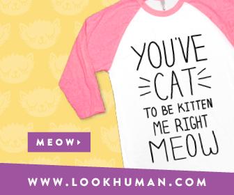 lookhuman.com cat banner